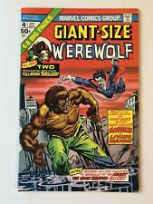 Giant-Size Werewolf By Night #4 (1975) Werewolf vs Morbius the Living Vampire