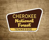 "Cherokee National Forest Decal Sticker 3.75"" x 2.5"" Tennessee Park Vinyl"
