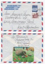 1981 SWITZERLAND Air Mail Cover ZÜRICH to MOSMAN PARK AUSTRALIA Hedehog Label
