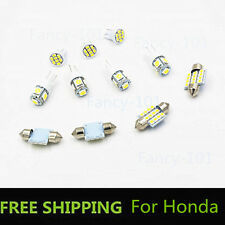 11PC  White LED Lights Interior Package for T10 & 31mm Map Dome License Plate