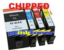 934XL/935XL 4 Cartuchos de Tinta Compatible Para HP Officejet Pro 6230,6830,6815,6835