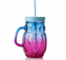Glass Cup Mermaid Mug With Lid And Straw For Office Outdoor Fashion Drinking New