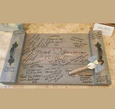 Wedding SIGNATURE GUEST BOOK Alternative Pallet Wood Rustic Serving Tray & Pen