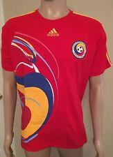 Adidas Romanian Football T Shirt Federatia Romana De Fotbal Busy 2-Sided Size XL
