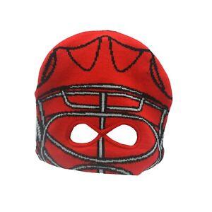 Detroit Red Wings NHL Reebok Kids Youth Boys OSFM Ski Mask Knit Beanie New Tags