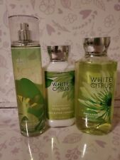 Bath & Body Works GIFT Set WHITE CITRUS 3 pc LOT Fast Free Shipping