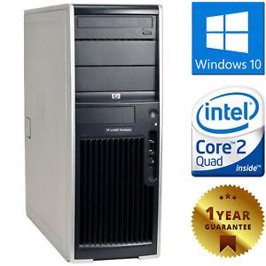 PC COMPUTER DESKTOP RICONDIZIONATO HP CORE 2 QUAD RAM 4GB HDD 250GB WINDOWS 10
