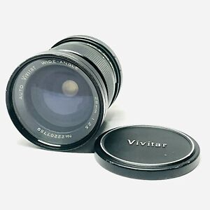 Vivitar Auto Wide Angle 28mm f/2.5 Lens  Canon FD Mount With 62mm UV Haze Filter