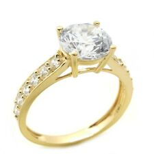 2.25 Ct Round Cut Diamond Solitaire Solid 14K Yellow Gold Engagement Ring