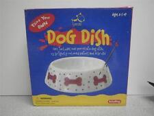 PAINT YOUR OWN DOG DISH- PORCELAIN KIT- W/12 PAINS & BRUSH- NEW- S1