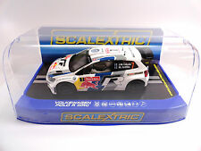 "Scalextric ""Red Bull"" Volkswagen Polo WRC Lights DPR 1/32 Scale Slot Car C3524"