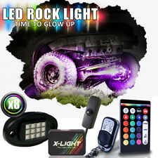8 Pods Multicolor LED Light Kits RGB Rock Lights w/ 2 Remote Controller Brake Mo