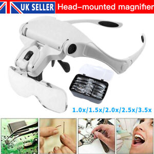 Magnifying Glasses LED Headband with Light Hands Free Headset Magnifier Lam Head