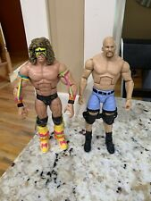 WWE Mattel Elite HOF Ultimate Warrior Stone Cold Steve Austin  Wrestling Figures