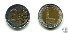 manueduc  2 EUROS ALEMANIA 2008 ERROR MAPA ANTIGUO IGLESIA DE SAN MICHEL  NUEVA