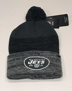 47 Brand New York Jets Cuffed Winter Hat Knit Beanie Blk Green Broadway Joe NFL