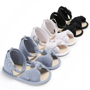 Newborn Baby Girl Soft Sole Crib Shoes Infant First Shoes Summer Sandals 0-18 M