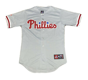 2000s Majestic MLB Philadelphia Phillies Hunter Pence Baseball Jersey Size S