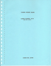 Canon Scoopic 16M - Repair Guide - Guide Reparation - Camera 16mm - 25 pages