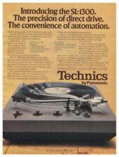 Technics SL-1300 Original Turntable Ad & Lab Report