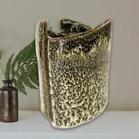 "Old Farmhouse Pottery Succulent Pot Vase By David Hendley Tx Ash Drip Glaze 3.5"""