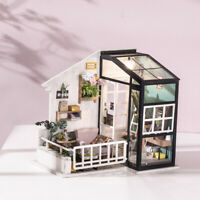 Rolife DIY Doll House with Furniture LED Miniature Dollhouse Model Kits Toy Girl