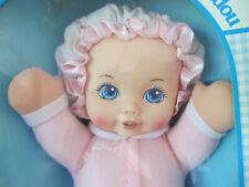 Playskool - My Very Soft Baby Doll - Pink Sleeper /White Bonnet - Squeaks - Mib