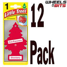 12 x Magic Tree Little Trees Strawberry Scent Fragrance Car Van Air Freshener
