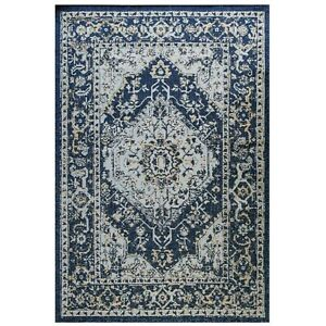 Navy Outdoor Flatweave Rug Summer Rugs Spill Proof Plastic Picnic Mats CLEARANCE