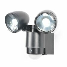 Twin 6W LED Floodlight Spotlight Twinspot Security Light With PIR Sensor Black