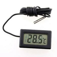 Waterproof Sensor Remote Thermometer Lcd Up To 110c Cable 2 M Button Battery