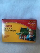 kodak anytime picture paper  100 sheets soft gloss 4x6inches inkjet printers NOS