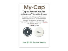 My-Cap's Cap to Reuse Capsules for Nespresso® VertuoLine Brewers, Reusable