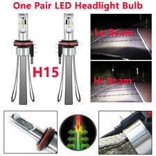 One Pair H15 Car Ven SUV LED Headlight Bulbs Canbus Kit 6000K 40W Lighting Lamps