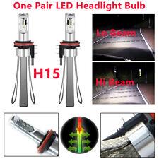 One Pair H15 Car Ven SUV LED Headlight Bulbs Canbus Kit 6000K 40W Lighting Lamps