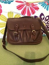 Mark Cross Brown Leather Handbag authentic