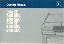 MERCEDES C 126 Owner´s Manual 1984 380 500 SE SEL SEC Handbook Handbuch BA