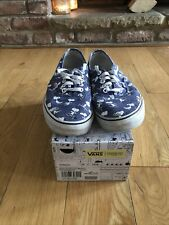 Mens Blue Snoopy Vans Skate Shoes UK Size 9 With Box