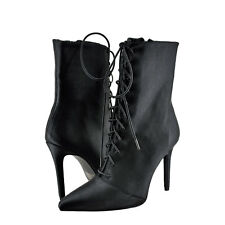 Womens Shoes Qupid Milia 63 Lace Up Lycra Boot Black *New*