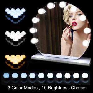 Schminktisch Beleuchtung Hollywood Spiegel USB 10 LEDs Licht für Kosmetikspiegel