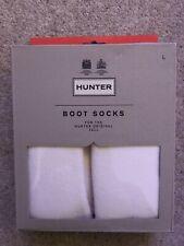 Hunter Welly Socks White Size Large