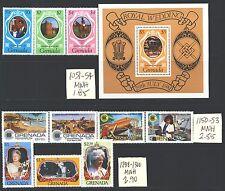 GRENADA 1051-1300 SG1130-1428 MNH 1981-85 3 sets, 1MS Cat$7