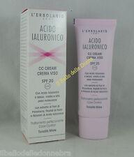 ERBOLARIO Acido Ialuronico CC cream Viso SPF20 50ml crema antiage colore miele