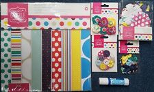 DOCRAFTS PAPERMANIA CAPSULE SPOTS AND STRIPES BRIGHTS COLLECTION BUTTONS PAPER +