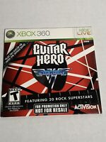 Rare New Sealed Full Version Promotional promo Guitar Hero: Van Halen - Xbox 360