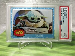 The Child The Mandalorian Topps Star Wars Living Set #58  PSA 9 Grogu Baby Yoda