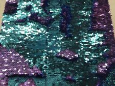 Sequins fabric Lavender/ Turquoise  Mermaid Fish Scales- Sold by Yard