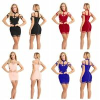 Womens Bandage Bodycon Sleeveless Evening Party Cocktail Club Short Mini Dress