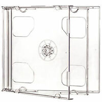 5 X CD DVD Double Jewel Cases 10.4mm for 2 Disc with Clear Tray HIGH QUALITY