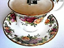 Old Country Roses Royal Albert Bone China England: GEDECK:Tasse m. Duftkerze~NEU